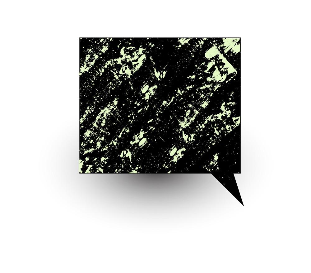 Rough Grunge Chat Bubble