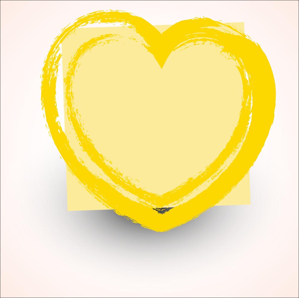 Rough Grunge Love Heart Design Vector