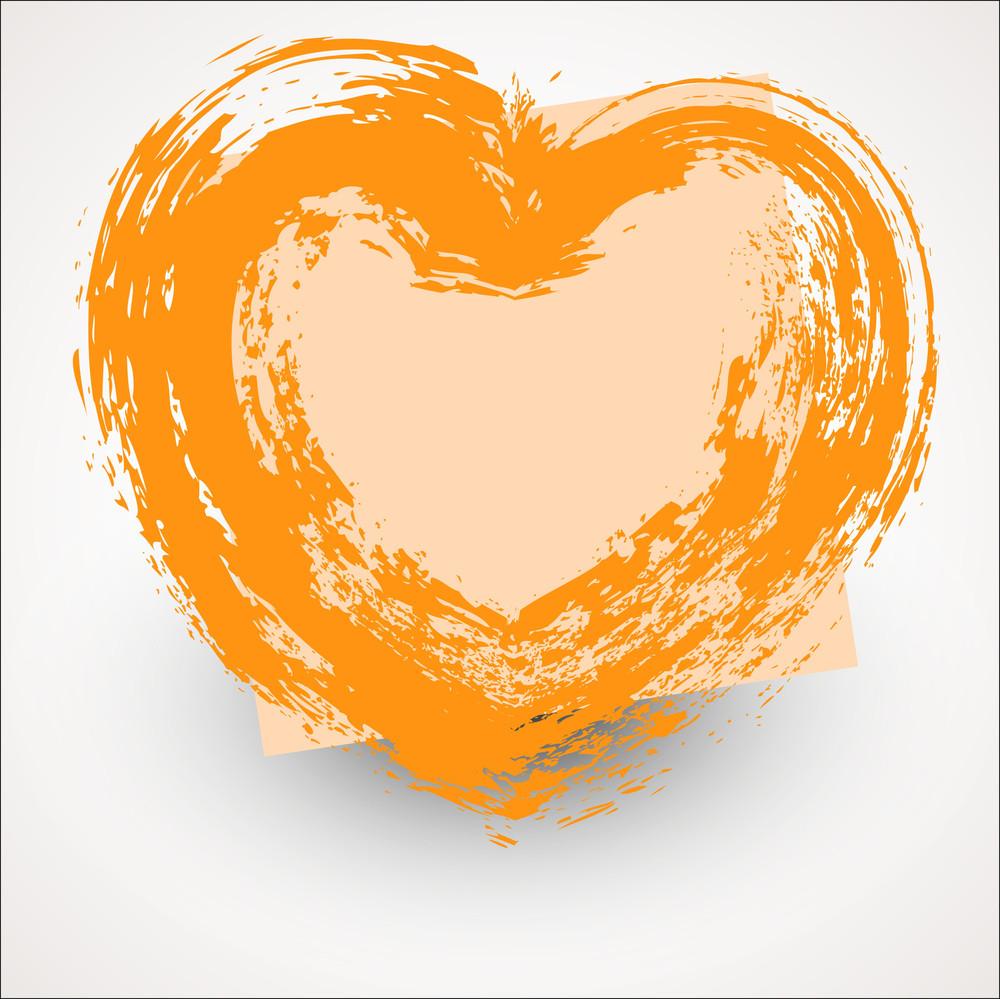 Rough Grunge Love Heart Frame Vector