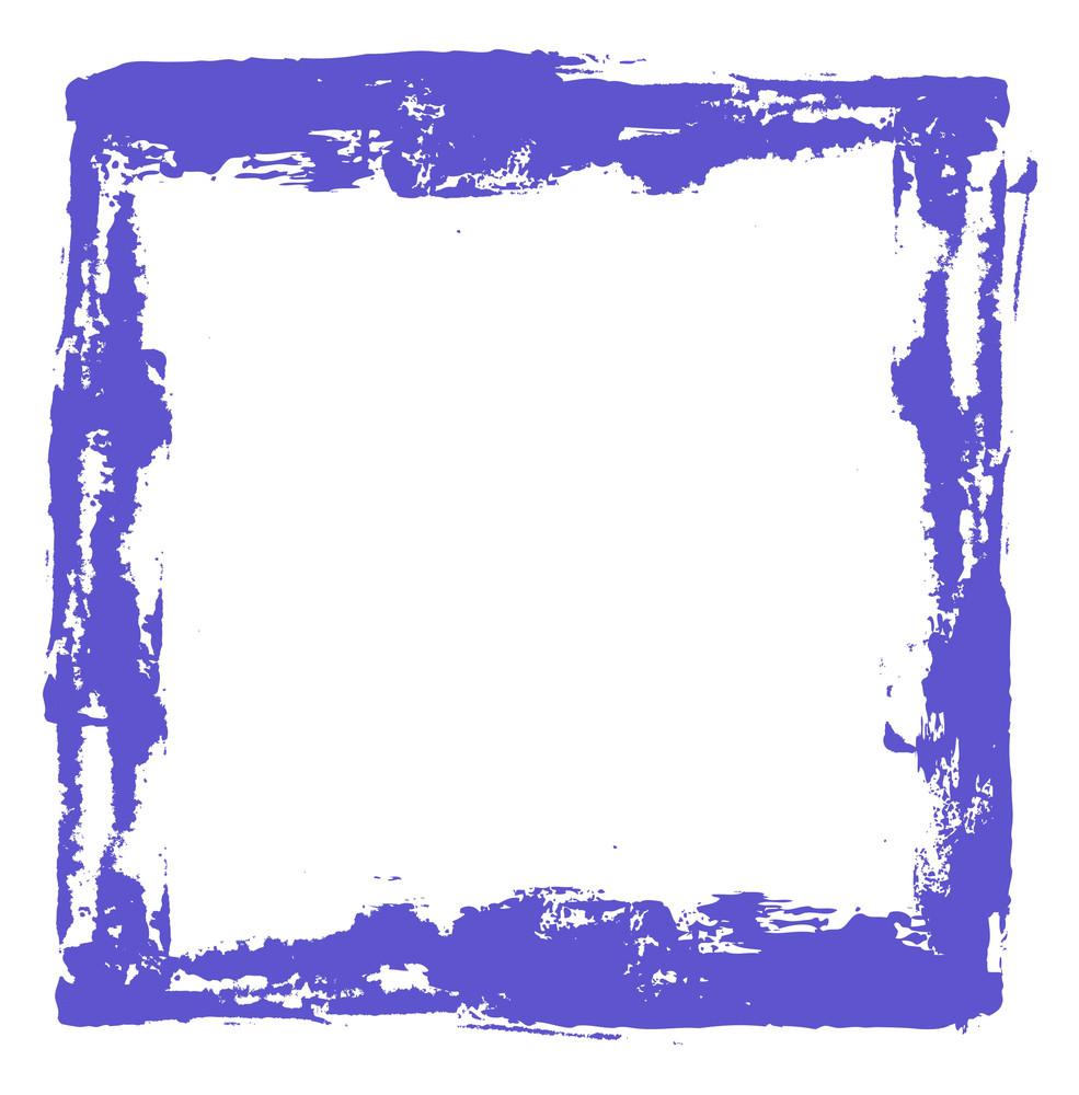 Rough Grunge Strokes Frame Vector