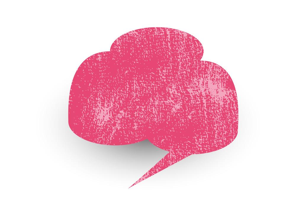 Rough Texture Speech Bubble