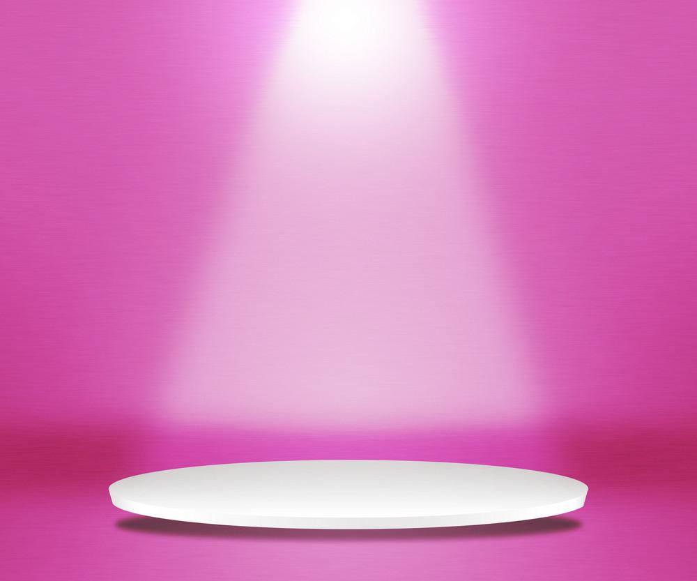 Round Podium Pink Background