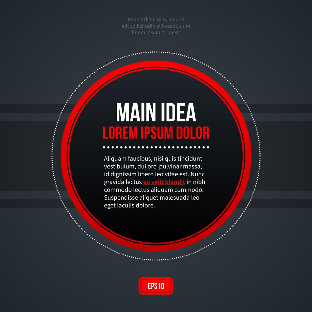 Round Text Background. Eps10.