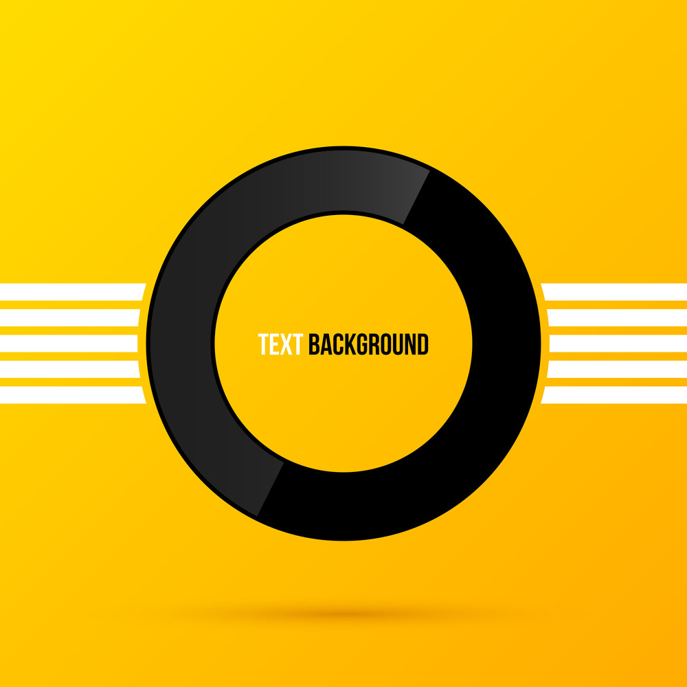 Round Text Frame On Bright Yellow Background. Eps10