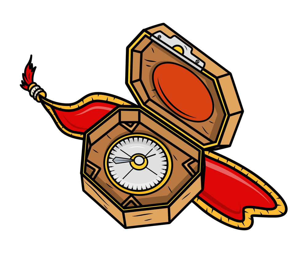 Royal Compass - Vector Cartoon Illustration