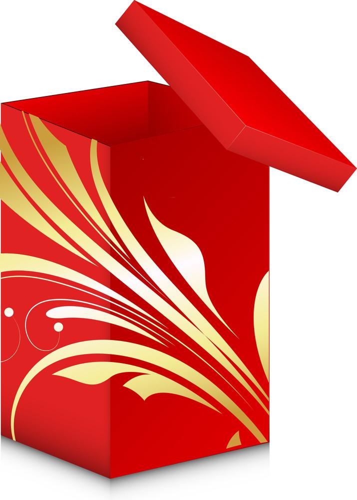 Royal Gift Box - Christmas Vector Illustration