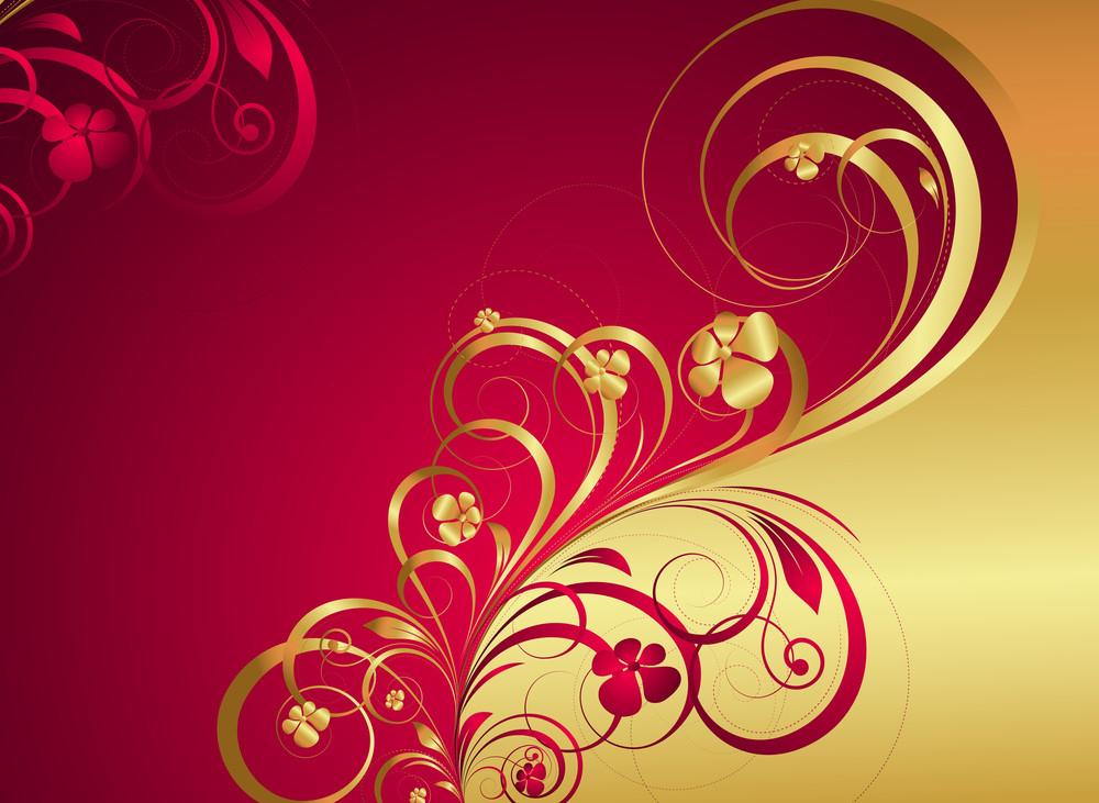 Royal Golden Floral Background