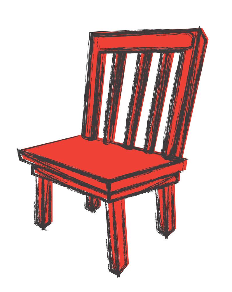 Rtero Wooden Chair Sketching