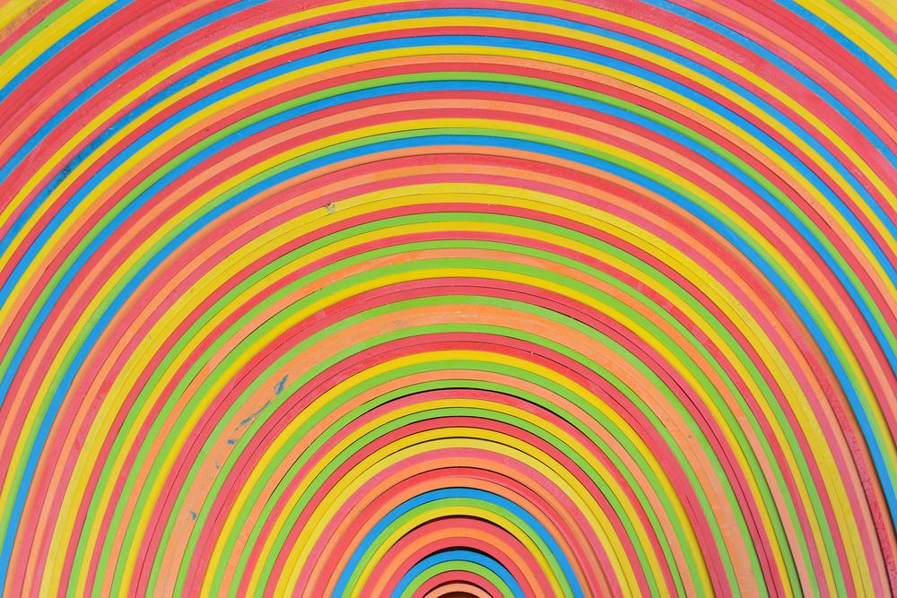 Rubber Strips Rainbow Pattern