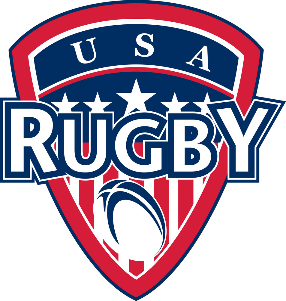 Rugby Ball Shield Usa Flag Stars And Stripes