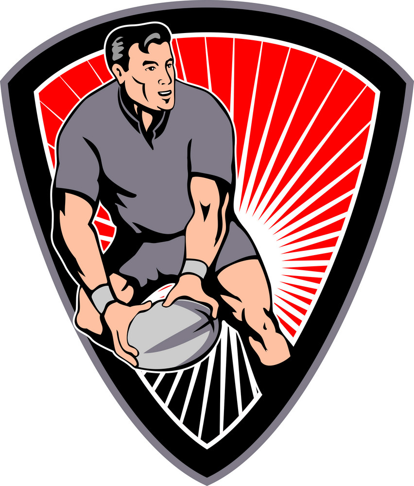 Rugby Passing Ball Shield