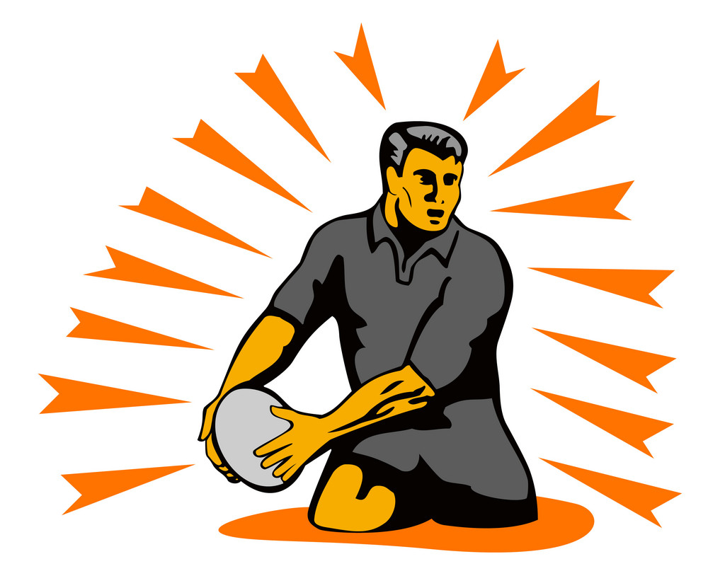 Rugby Passing Ball
