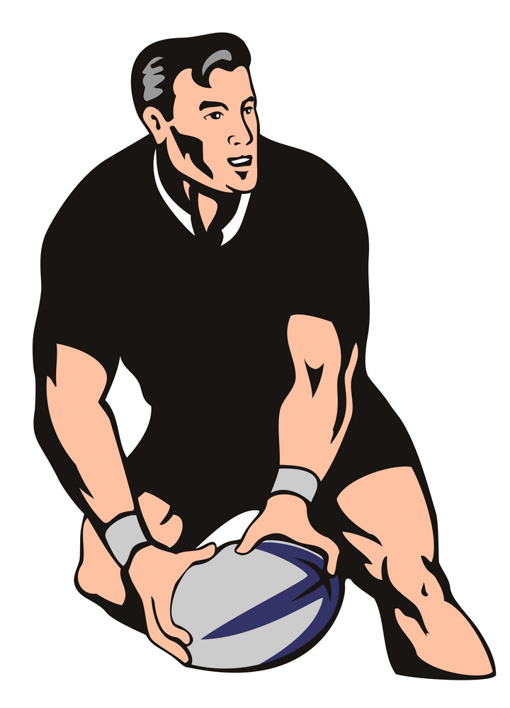 Rugby Passing Front Left Black