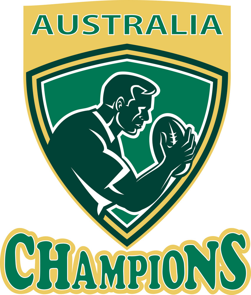 Rugby Player Australia Champions Shield