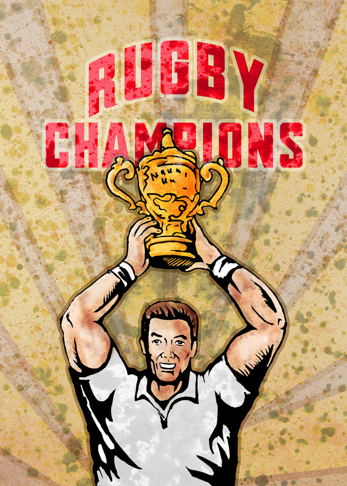 Rugby Player Championship Cup