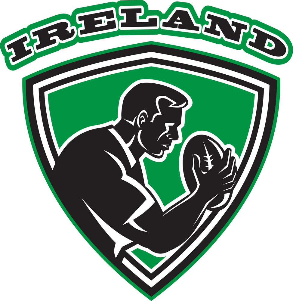 Rugby Player Ireland Shield