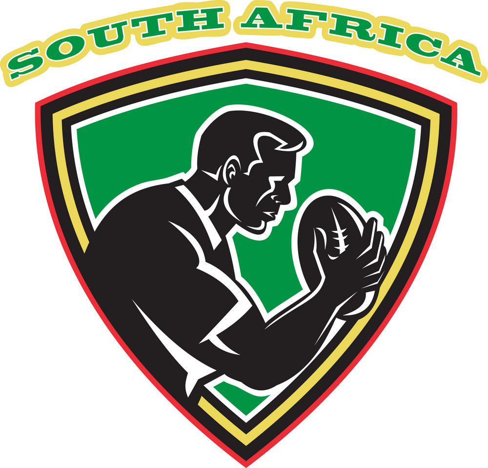 Rugby Player South Africa Shield