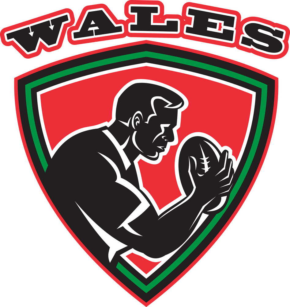 Rugby Player Wales Shield