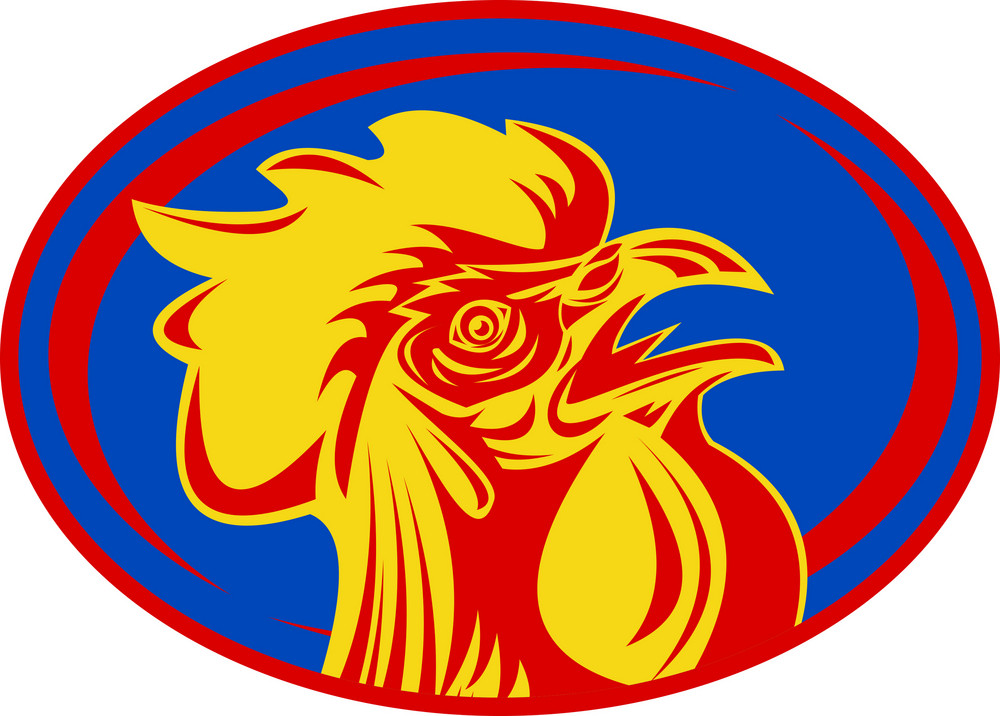 Rugby Rooster Sports Mascot France