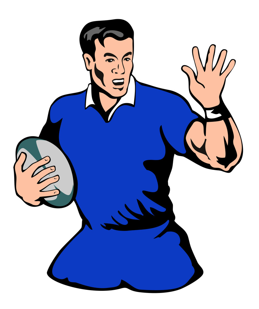Rugby Running Fend Blue