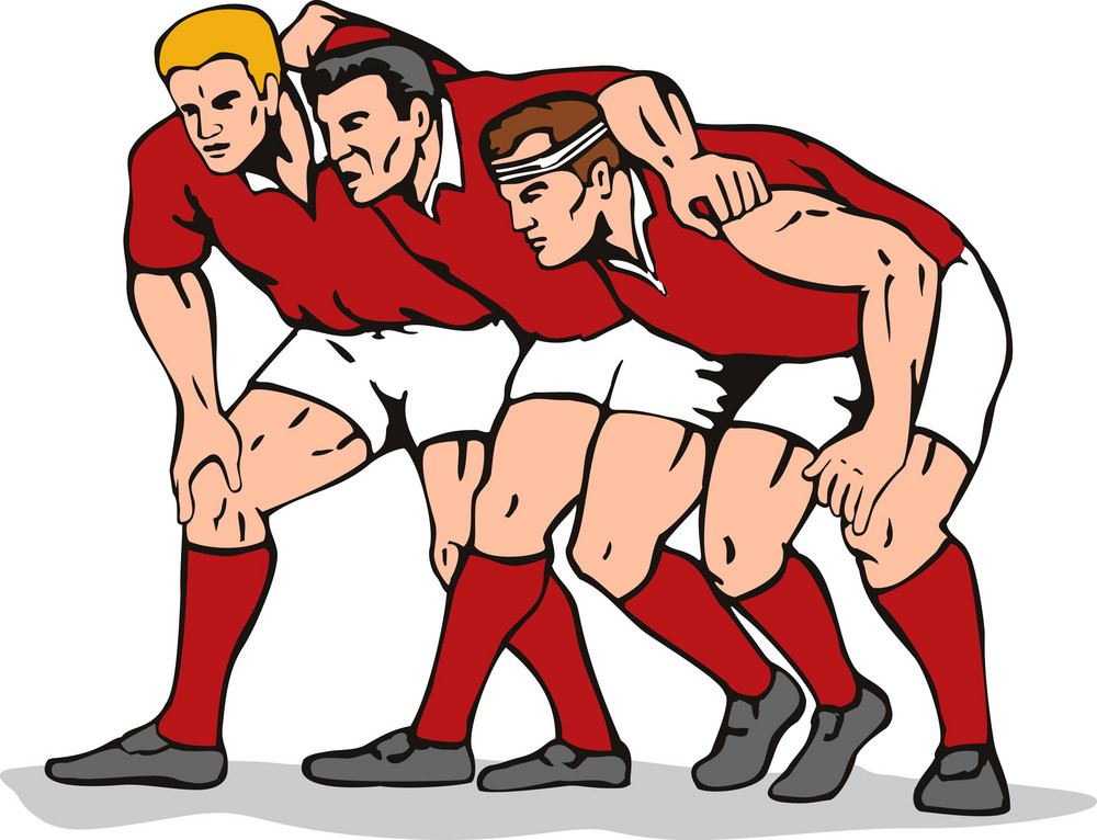 Rugby Scrum Front Row