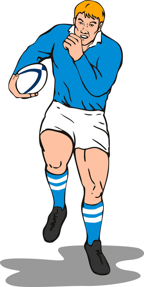 Rugby Winger Running