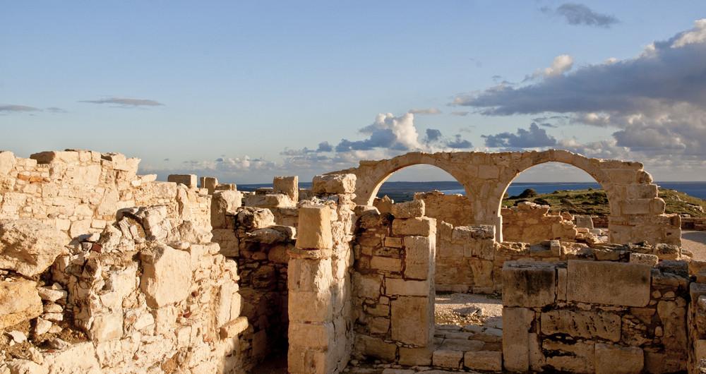 Ruins Of Kourion Overlooking Mediterranean.