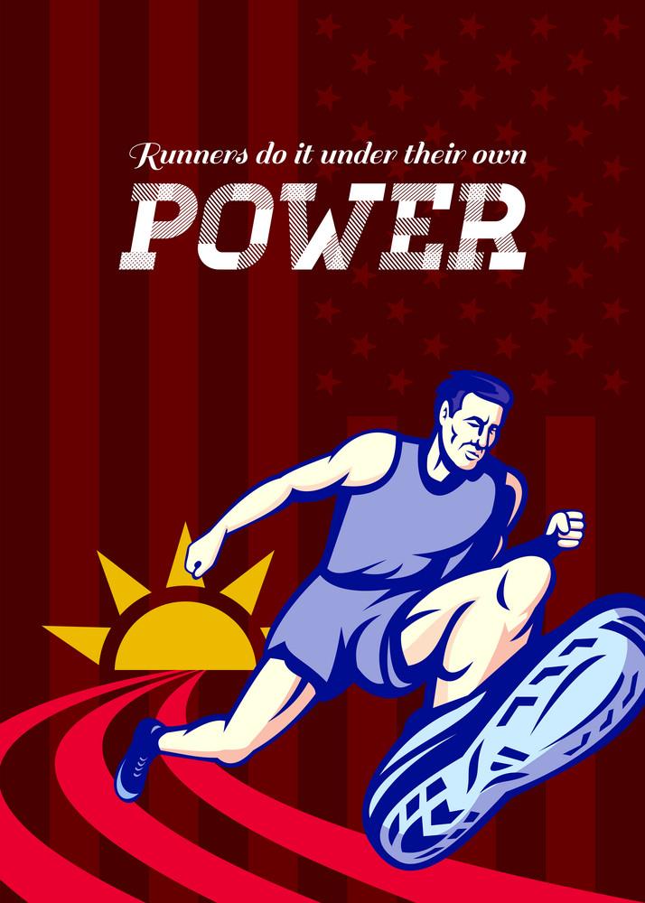 Runner Running Power Poster