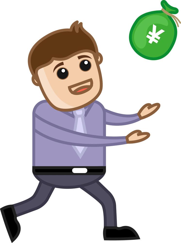 Running For Money - Business Cartoon