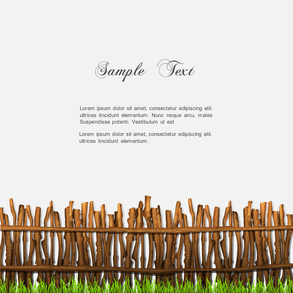 Rustic Fence With Grass
