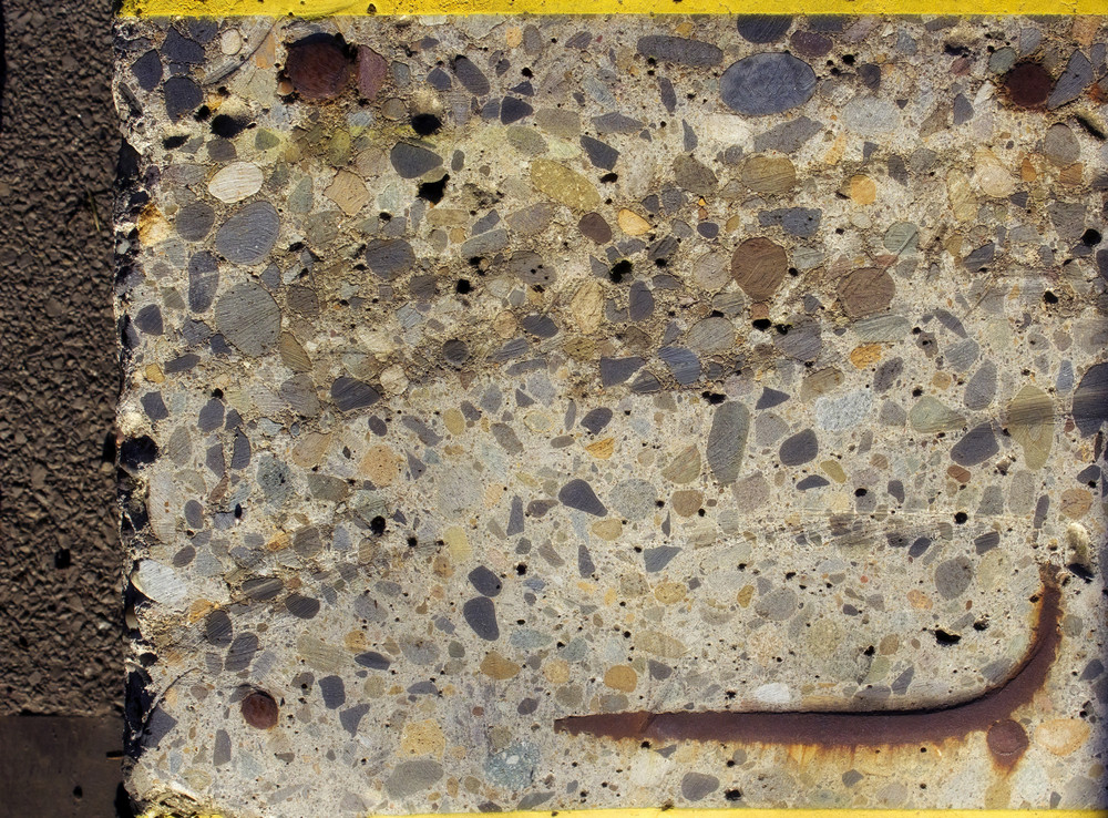Rusty Cemented Stones Texture Wall