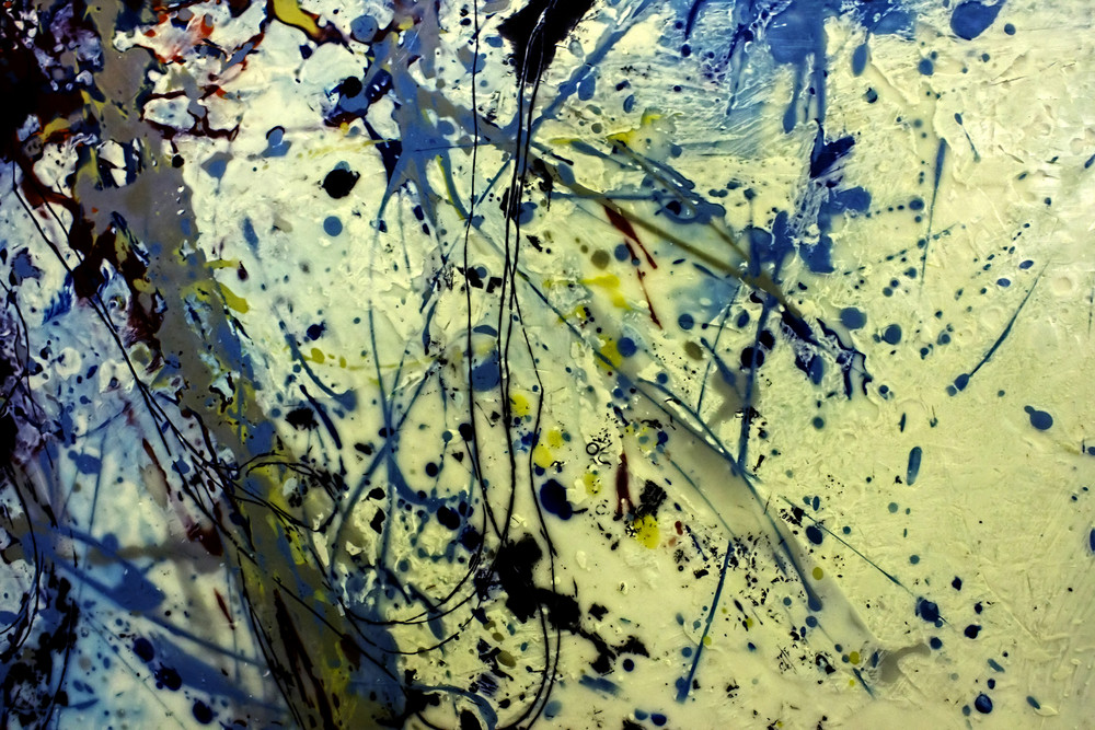 Rusty Paint Splash Grunge Background