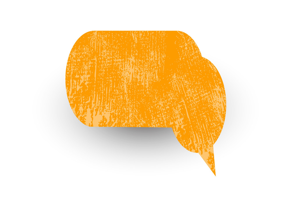 Rusty Speech Bubble Vector