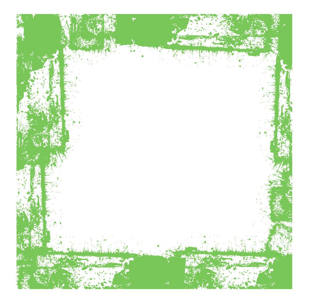Rusty Splatter Frame Vector