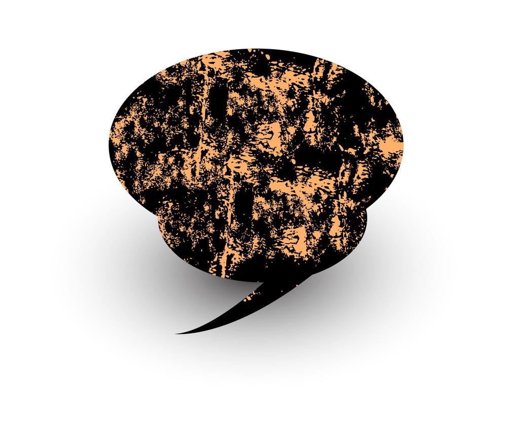 Rusty Talk Bubble Vector