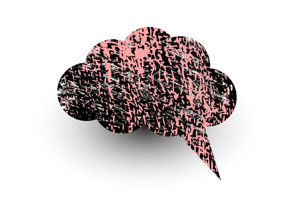 Rusty Texture Comic Speech Bubble Vector Design