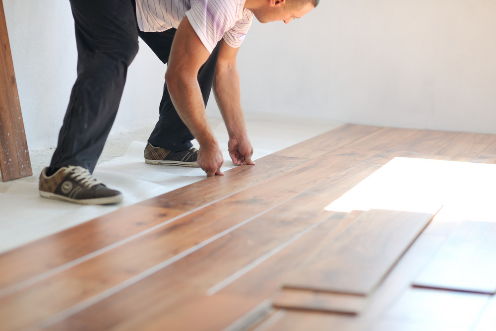 Installing Laminate Flooring Royalty Free Stock Image Storyblocks