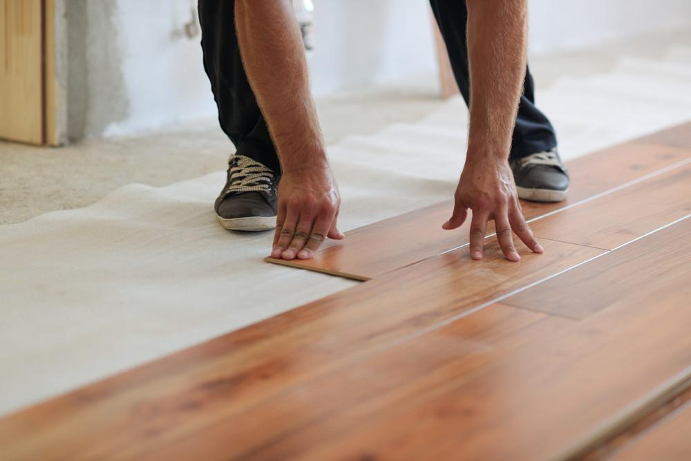 Installing Laminate Flooring Royalty Free Stock Image Storyblocks