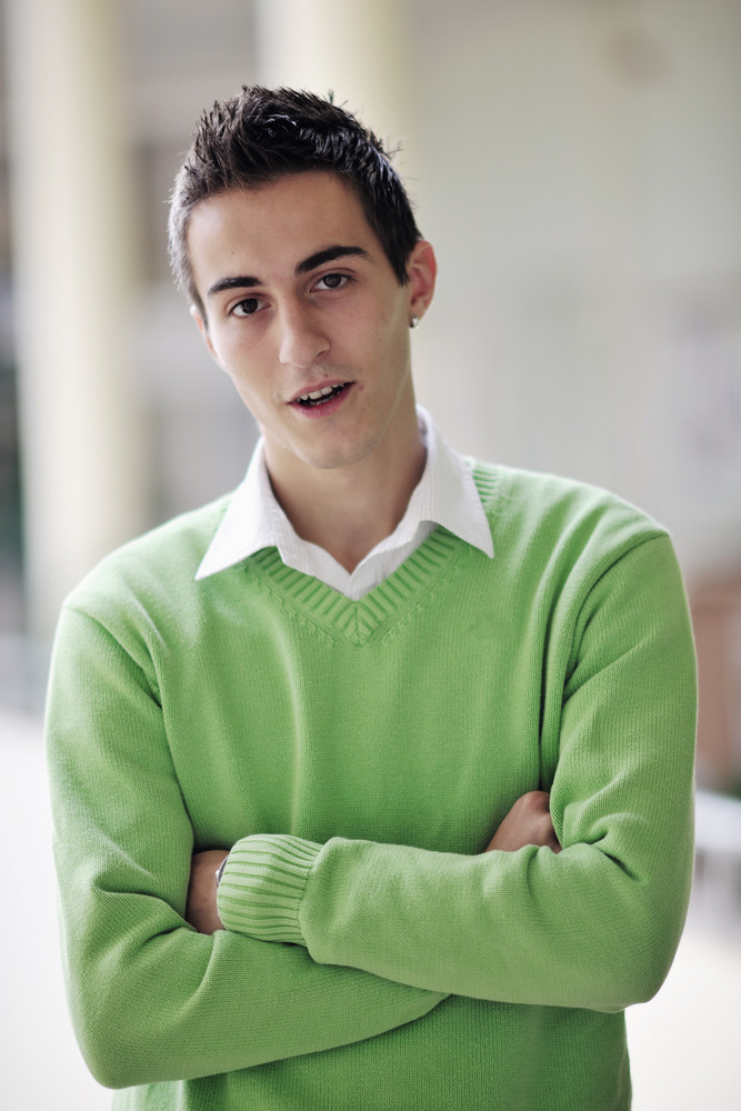 Student male portrait at campus