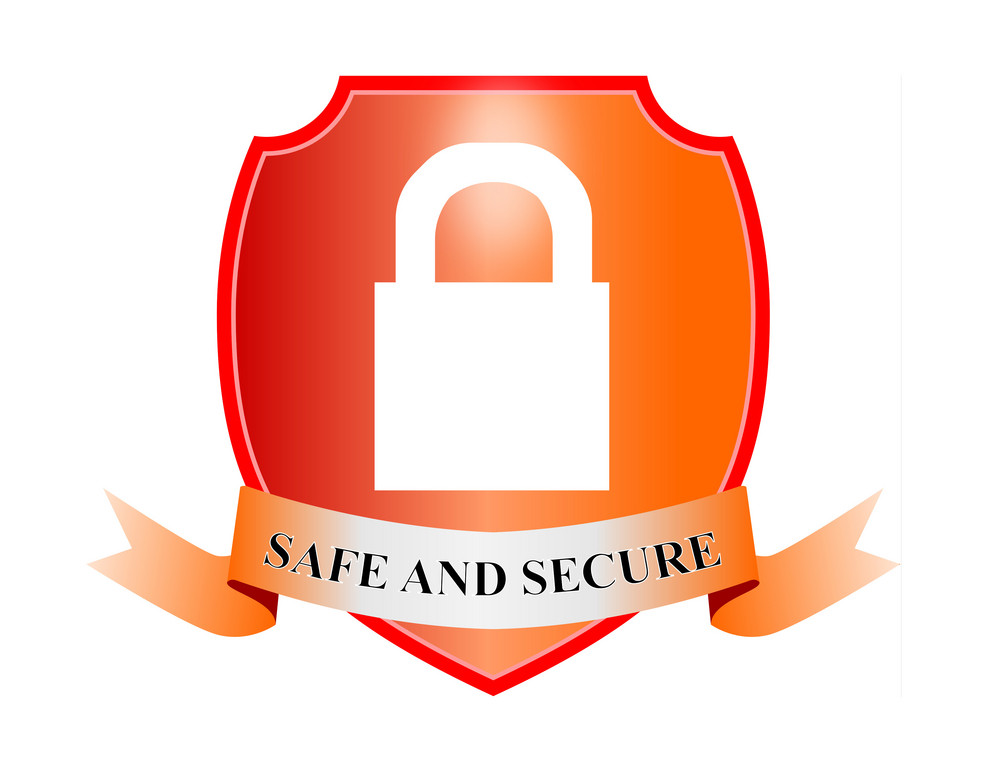 Safe And Secure Padlock In Shield