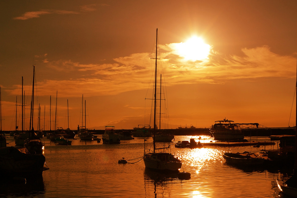 Sailboats Sunset