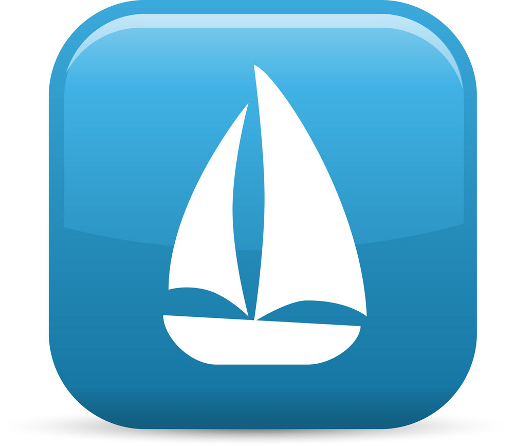 Sailing Vessel Elements Glossy Icon
