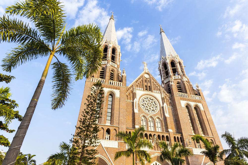 Saint mary cathedral. Yangon. Myanmar.