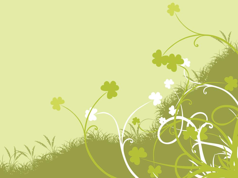 Saint Patricks Day Floral Background