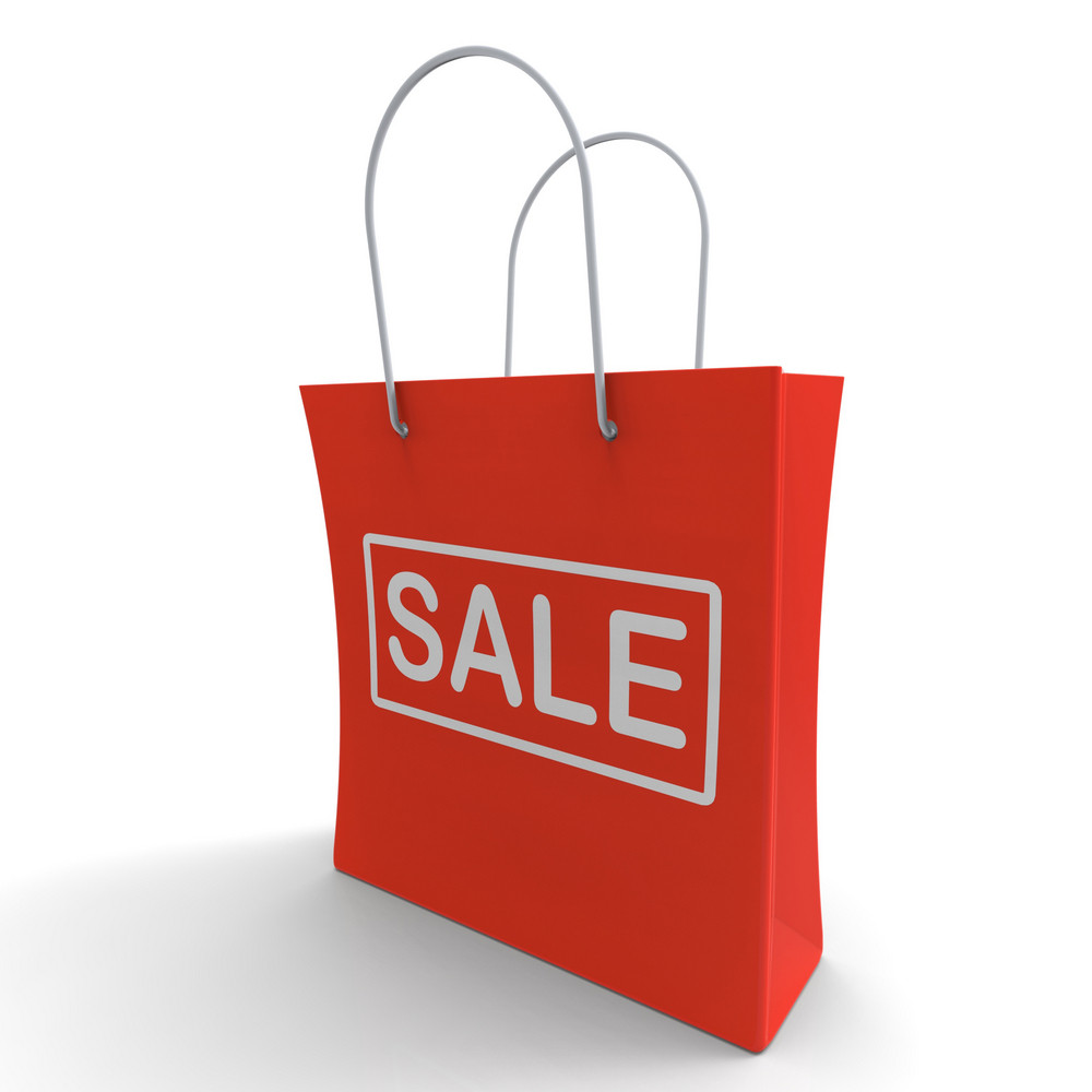 Sale Bag Shows Discount Or Promo