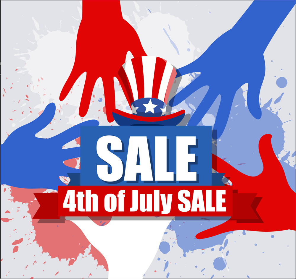 Sale Banner  4th Of July Vector Theme Design