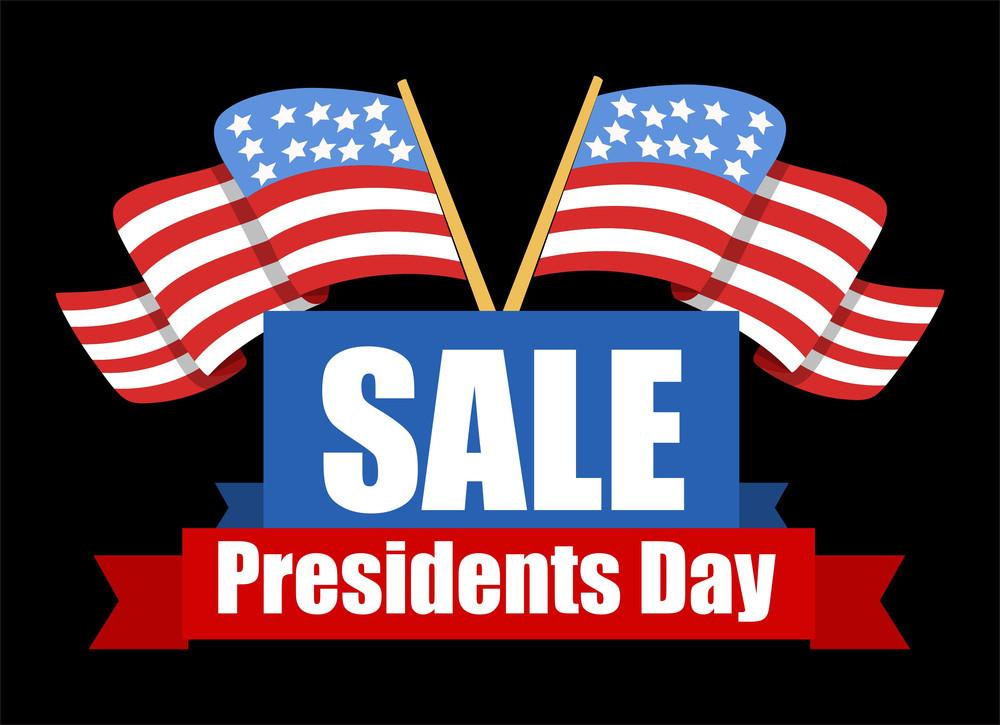 Sale Banner Design Presidents Day Vector Illustration