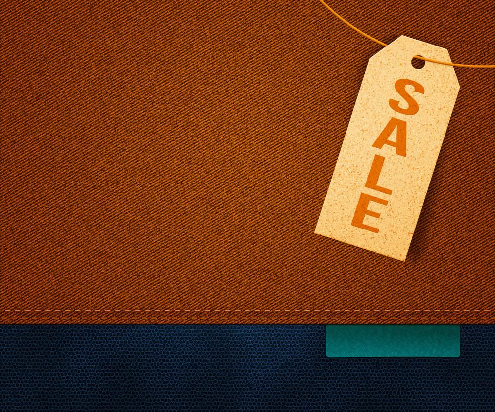 Sale Clothes Label Background