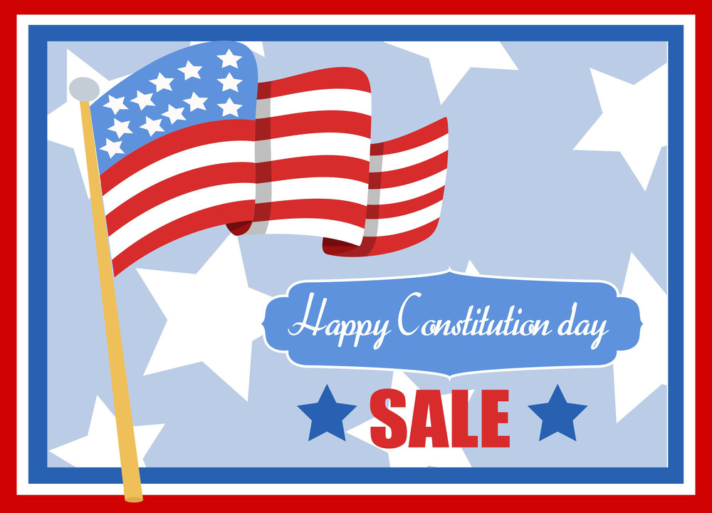 Sale  Constitution Day Vector Illustration