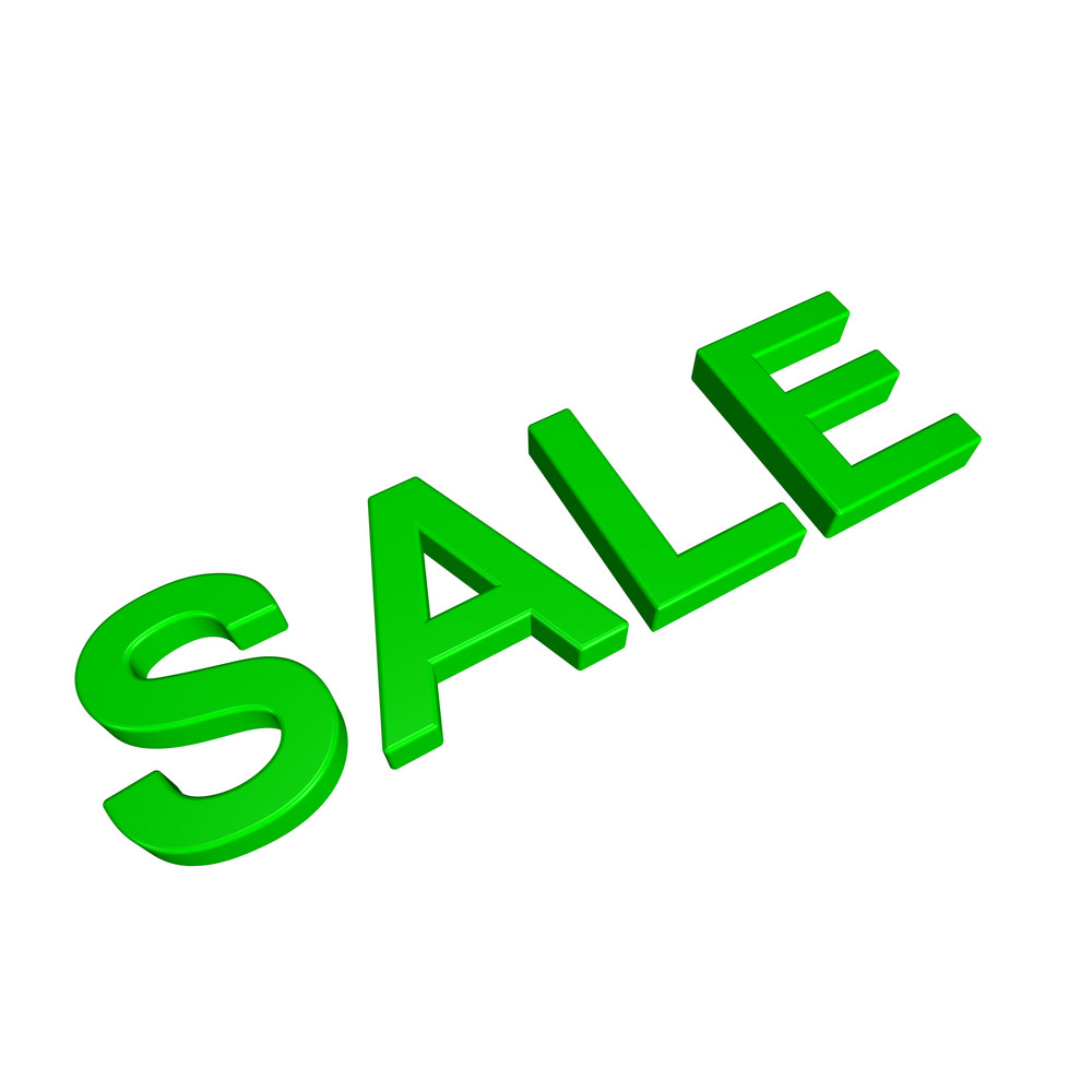 Sale - Green Sign.